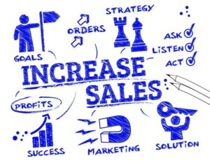 Marketing infographic on increasing sales
